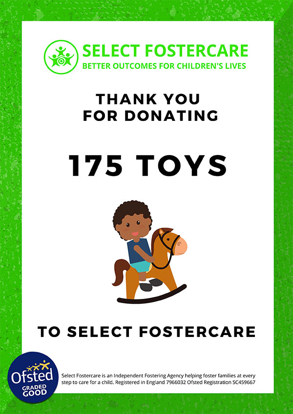 Select Fostering Certificate for toys